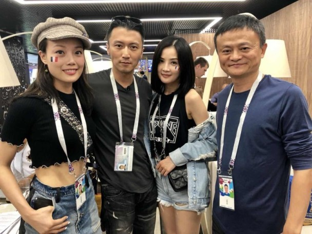 马云杨受成相约世界杯决赛 与阿Sa祖儿霆锋同框合影