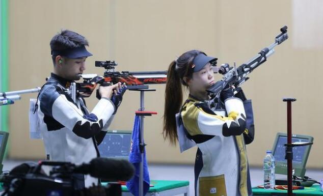 10米气步枪混合团体中国台北夺冠 中国组合摘银