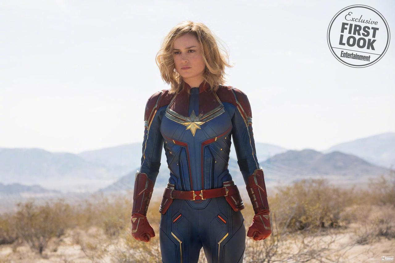 漫威《惊奇队长》首曝剧照战袍亮相 宇宙最强的超级英雄