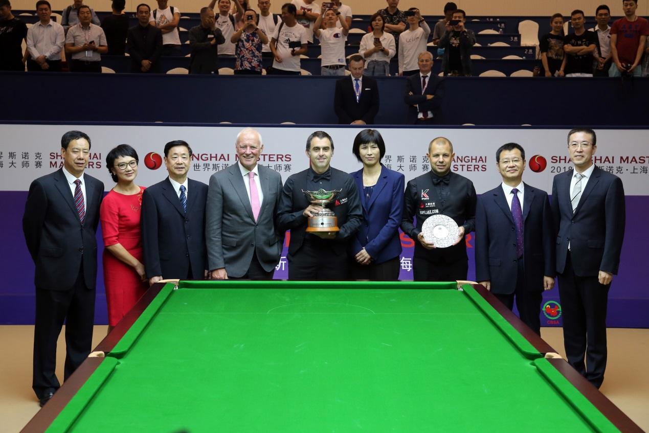 奥沙利文成破上海赛卫冕魔咒 与1人平分单杆最高分奖