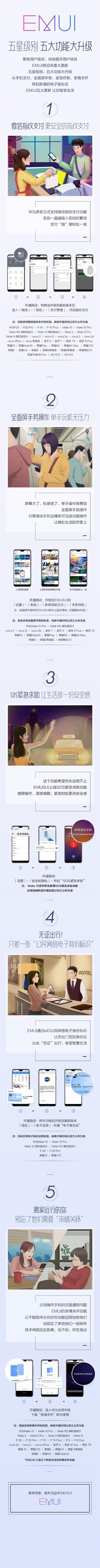 老机型即将获得更新华为EMUI 9.0五大功能了解下