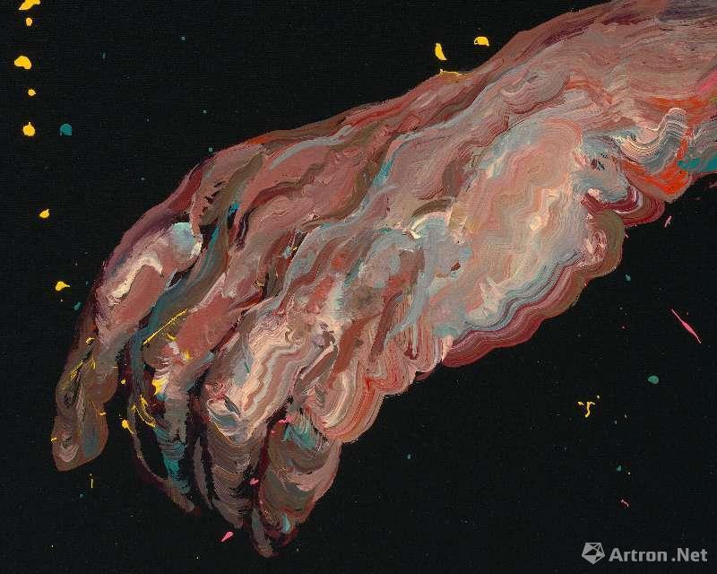 《无题》,油彩画布,80 x 80cm,2018 ©曾梵志,图片:艺术家、豪瑟沃斯