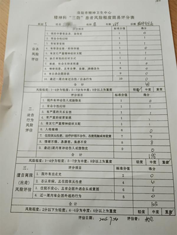 洛阳大学生被强送精神病院134天 自救后起诉学校医院