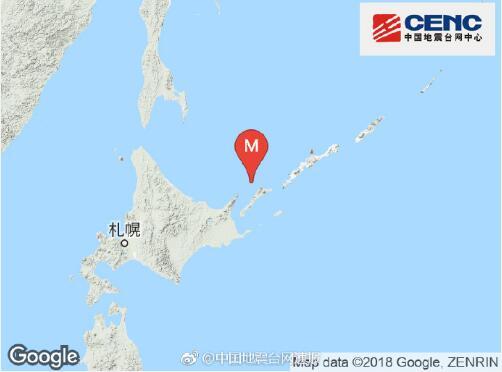日本北海道地区发生6.0级地震
