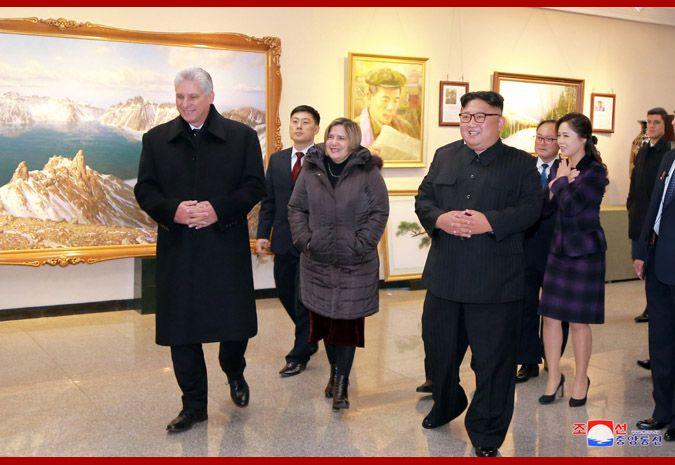 古巴率领人欢快旅行朝鲜版798!金正恩佳偶陪同