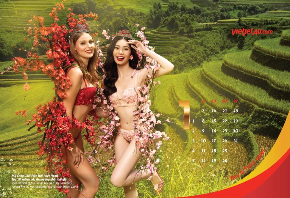延续传统越捷航空推出2019高颜值空姐日历