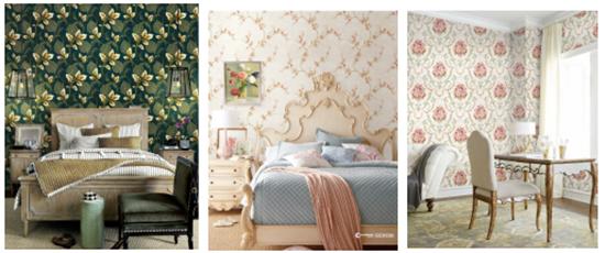 大自然壁高:盘点10本热销刺绣墙布,演绎家居刺绣风