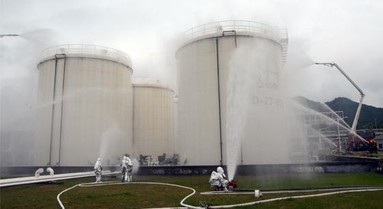 义乌开展石油化工灾害事故灭火救援实战演练