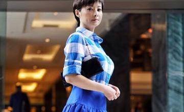 43岁袁立参加美领馆独立日活动 穿衬衫尽显身材
