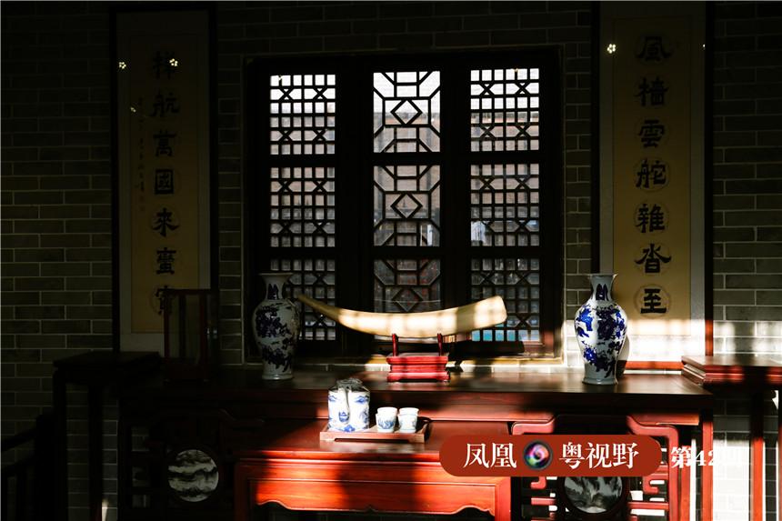 在瑞典的第132次亚洲之旅中,有129次是开往中国广州的。据说当时一艘船的利润,相当于瑞典一年的国内生产总值。图为:沐浴在阳光下的纪念馆展品。