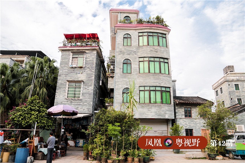 部分建筑还保留着西式风格。