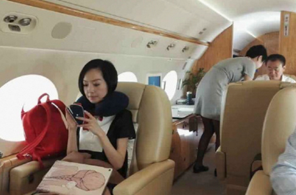王健林私人飞机内直播斗地主(图)