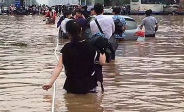 武汉暴雨 开启看海模式