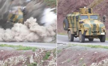 土耳其防雷车遭1吨炸药伏击 成功保住9条人命