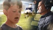 美国霸气老爸用直升机给儿子拔牙