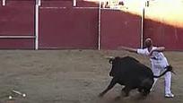 实拍斗牛士表演失误 遭公牛牛角刺穿心脏当场毙命