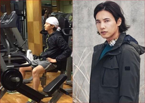 【有意思】为复出做准备?韩国欧巴元彬健身室练肌肉