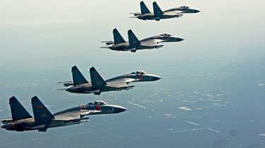 韩国部署萨德 中国数十架战机黄渤海大演习