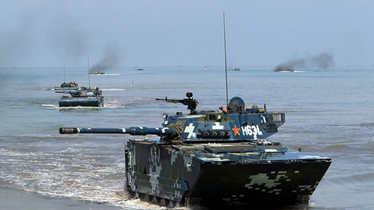 疑解放军朱日和演练攻台全步骤 红军战损50%惨胜