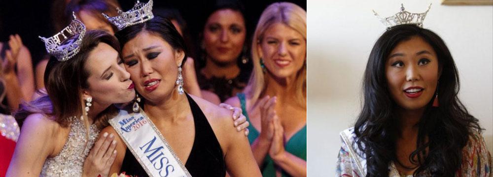 华裔女孩竞选美国小姐 这颜值你们感受下…
