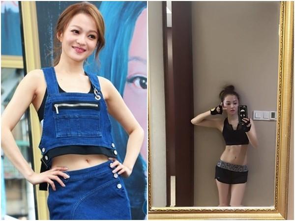 【星娱TV】张韶涵40公斤还有腹肌 健身后秀魔鬼身材(图)