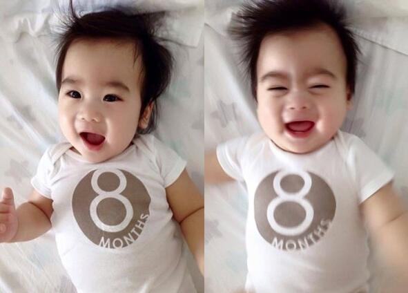【星娱TV】林志颖双胞胎儿子8个月大了 弟弟样子像极了爸爸(图)