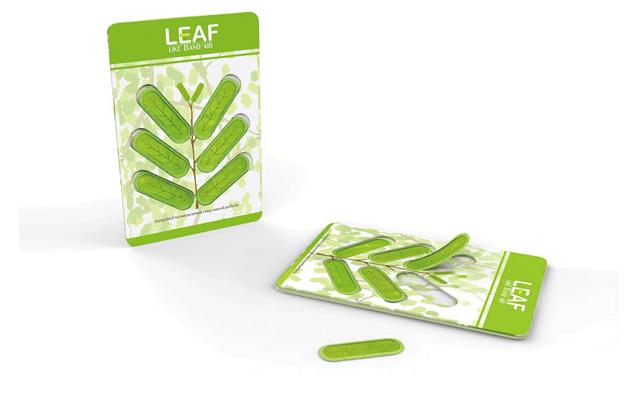 创新设计的网格树叶的创可贴(图片来自网络)装修设计形状纸图片