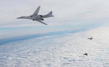 大国风范:俄两架图160轰炸机逼近英国领空