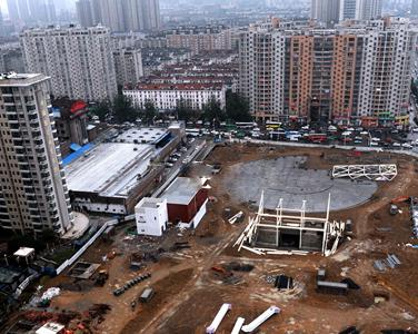 合肥胜利广场悄然开工 中国结雕塑是否回归暂未定
