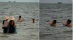 广西小姐光天化日提供海底洗浴服务 打水炮
