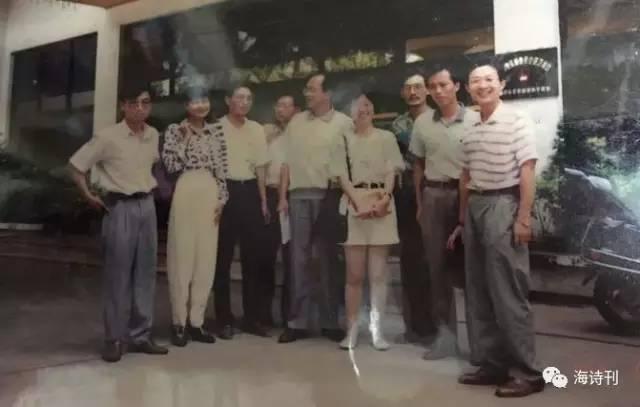 海南高校社团红帆诗社成立30周年 王蒙洛夫北岛亲笔诗稿祝贺