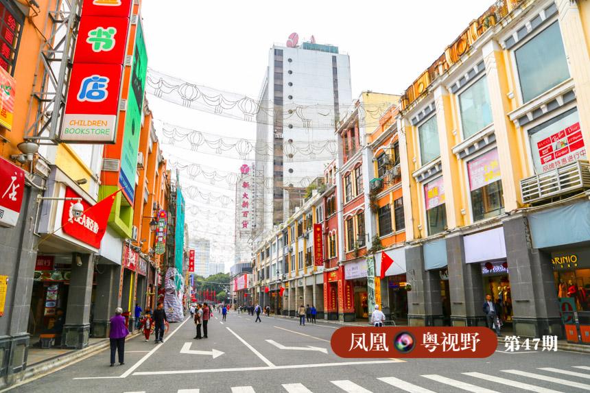 在中山五路以北、北京路以及财政厅一带,市民能看到保持相对完好,马路两侧对称的骑楼群。