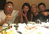 贾跃亭演员娇妻与大佬们聚餐