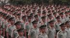 武警海南总队一支队升旗庆祝建军90周年