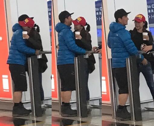任贤齐伤愈回国获老婆接机 还给了他一个大大的拥抱