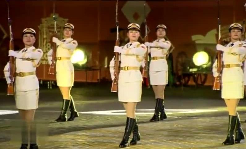 中国人民解放军军乐团莫斯科军乐节表演