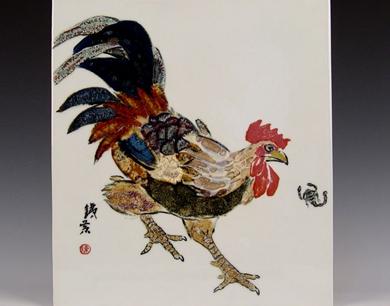 陶瓷艺术大师陈棣《鸡年大吉系列作品》