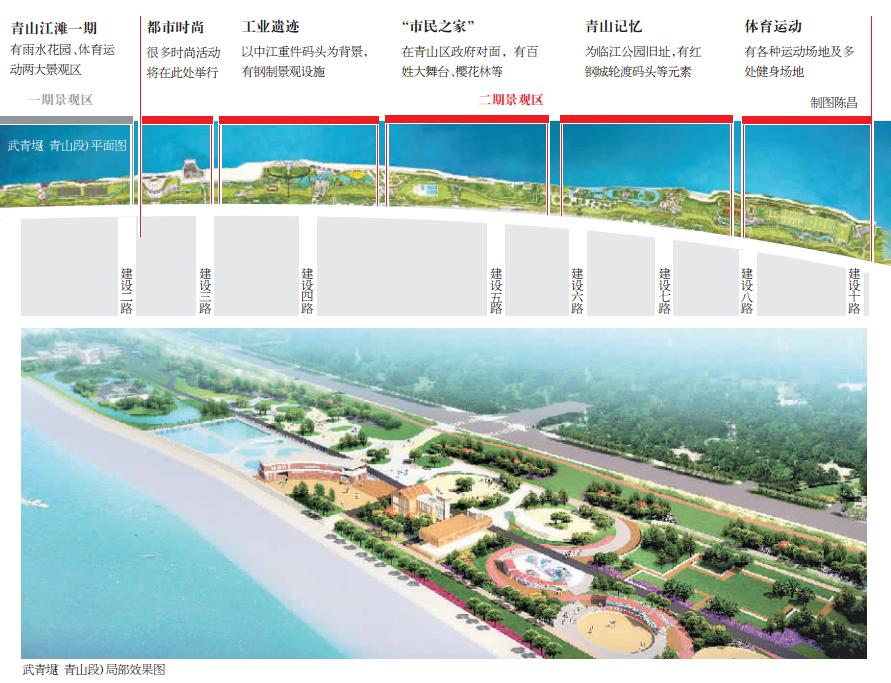 江滩手绘平面图