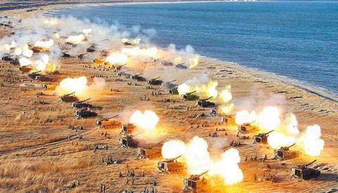 朝鲜今举行史上最大规模火力演习 金正恩指导(图)