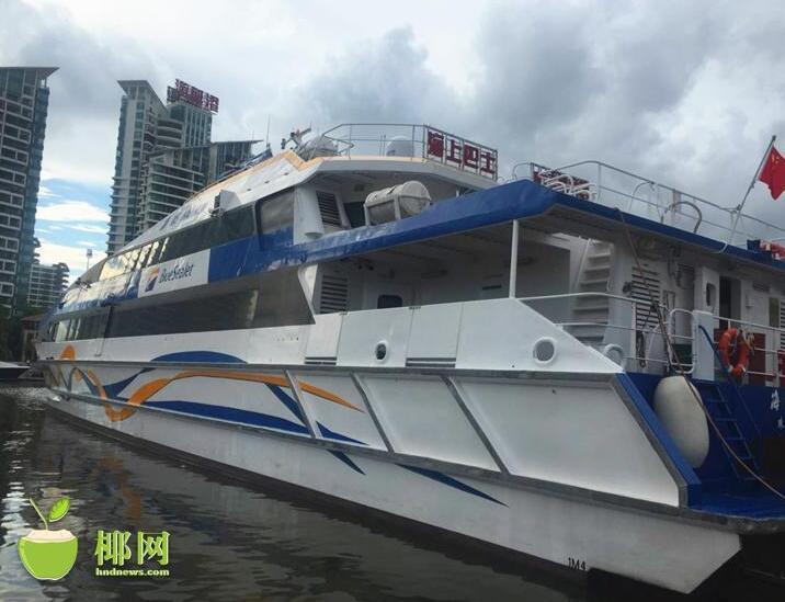 三亚旅游新玩法:坐海上巴士到景区 坐船游内河