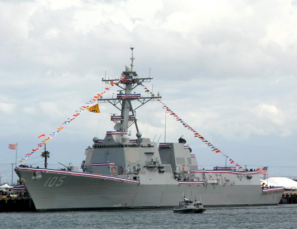 美军舰进南海美济礁12海里海域 系特朗普任后首次