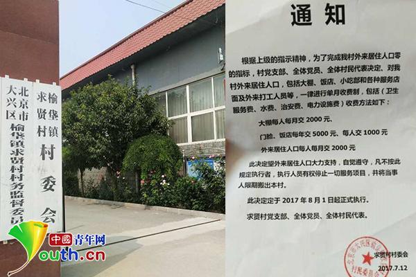 北京求贤村将对外来人口收费:每人每月2000元