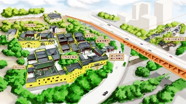 手绘地图见证重庆传统风貌街区