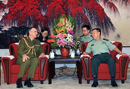 """范长龙会见新西兰国防军司令""""title="""