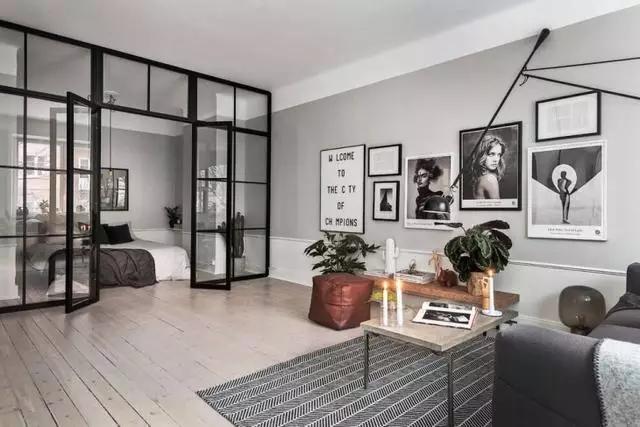 52平米单身公寓,北欧风和工业风的完美混搭!图片