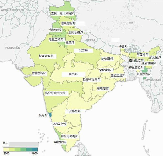 印度阿鲁恰尔邦地图