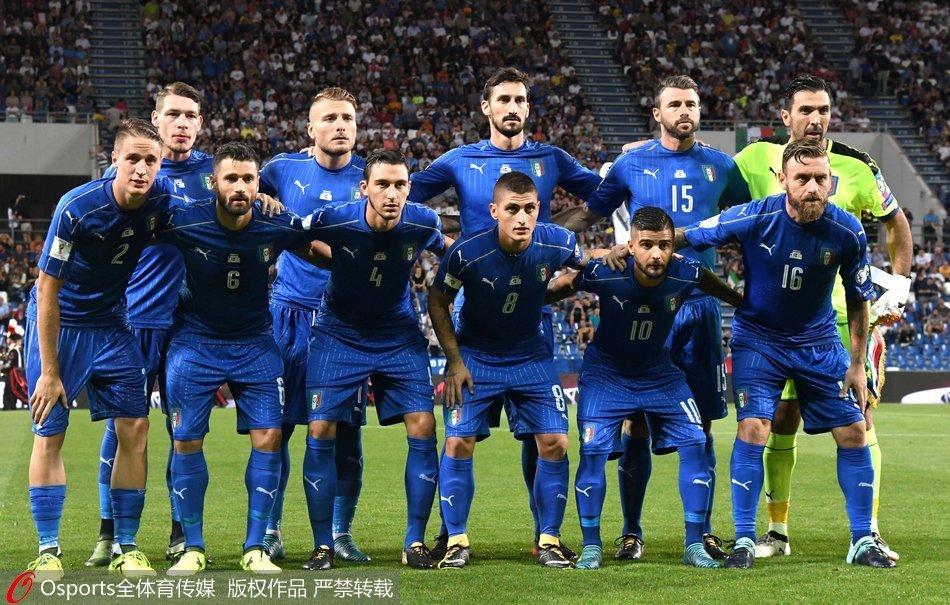 恐怖!意大利世预赛主场从未输球 53战46胜34零封