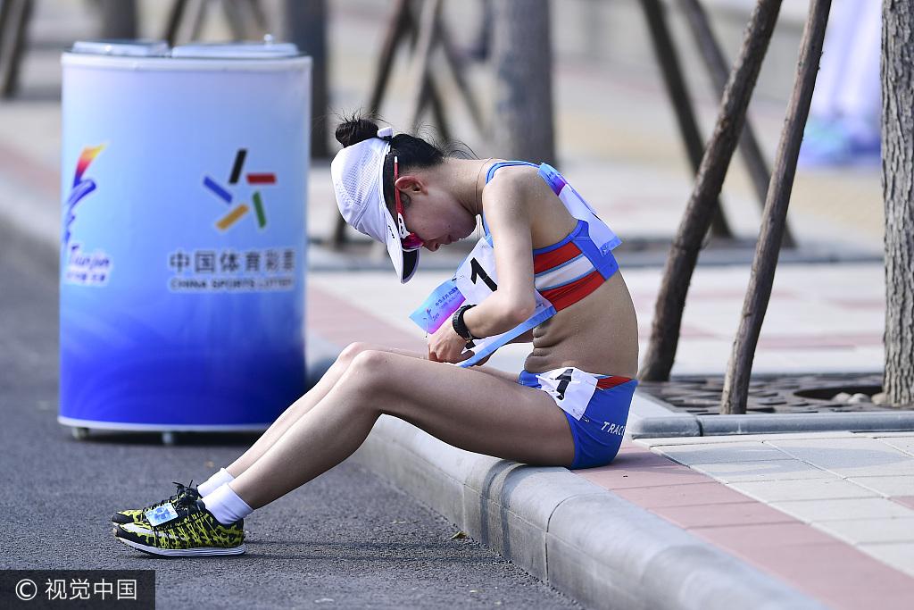 竞走再现世锦赛一幕 吕秀芝被罚下杨佳玉夺冠