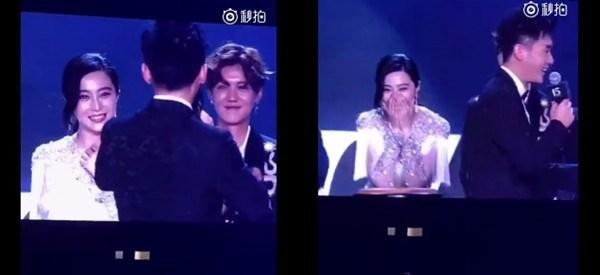 李晨连唱两首情歌告白 范冰冰用手捂脸超害羞(图)