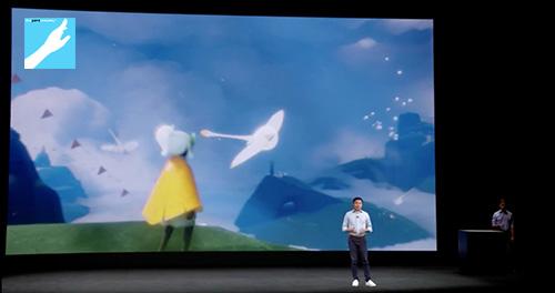 陈星汉带着游戏新作《Sky》亮相了苹果发布会